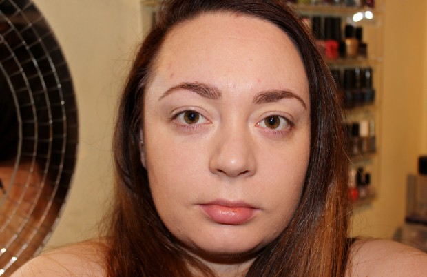 After Rimmel Lasting Finish Nude foundation application